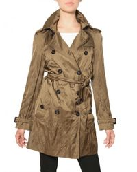 Burberry | Brown Wilmont Washed Viscose Satin Trench Coat | Lyst