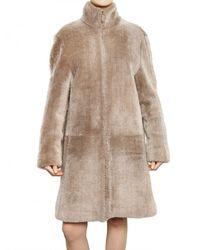 Calvin Klein | Natural Needle Punched Lamb Shearling Fur Coat | Lyst