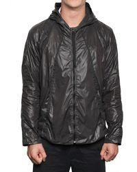 Christopher Raeburn | Black Nylon Fold Away Hooded Sport Jacket for Men | Lyst