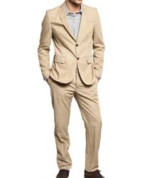 Tonello | Natural Lightweight Cotton Canvas Suit for Men | Lyst
