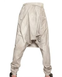 Damir Doma - Natural Cotton Poplin Wrap Trousers for Men - Lyst