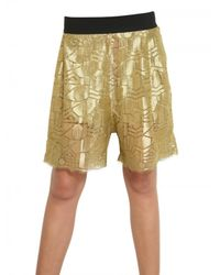Damir Doma | Metallic Lurex Lace Shorts | Lyst