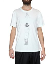 Dead Meat | White Star Raw Cut Jersey Tail T-shirt for Men | Lyst