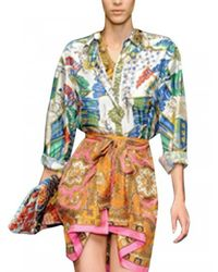 Dolce & Gabbana | Multicolor Printed Silk Twill Shirt | Lyst