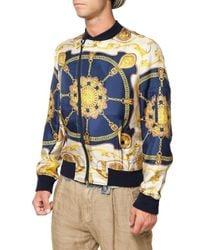 Dolce & Gabbana - Multicolor Silk Marine Sport Jacket for Men - Lyst