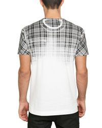 Dolce & Gabbana | White Degrade Check Printed Jersey T-shirt for Men | Lyst