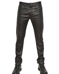 Dior Homme | Black 17,5cm Stretch Nappa Leather Jeans for Men | Lyst