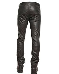 Dior Homme - Black 17,5cm Stretch Nappa Leather Jeans for Men - Lyst
