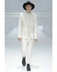 Dior Homme - White Cotton Viscose Toile Suit for Men - Lyst