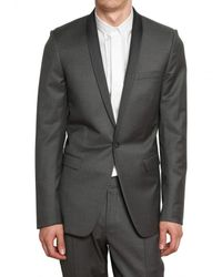 Dior Homme | Gray Serge Wool Cashmere Smoking Suit for Men | Lyst
