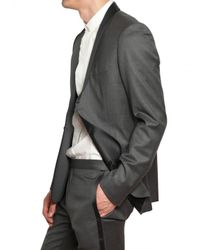 Dior Homme - Gray Serge Wool Cashmere Smoking Suit for Men - Lyst