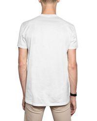 Dior Homme - White Rose Print Jersey V-neck T-shirt for Men - Lyst
