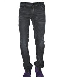 Dolce & Gabbana | Black 19cm Washed Denim Gold Fit Jeans for Men | Lyst