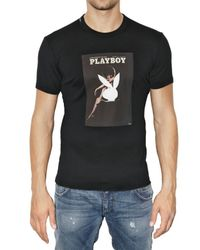 Dolce & Gabbana | Black Playboy Printed Jersey T-shirt for Men | Lyst