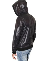 Dolce & Gabbana | Black Shiny Nylon Hooded Sport Jacket for Men | Lyst