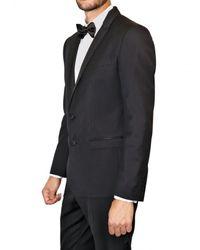 Dolce & Gabbana | Black Stretch Wool Twill Tuxedo Suit for Men | Lyst
