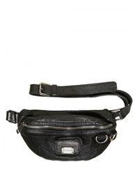 Dolce & Gabbana | Black Washed Sheep Skin Fanny Bag for Men | Lyst