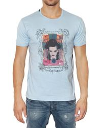 Dolce & Gabbana - Blue Boy George Printed Jersey T-shirt for Men - Lyst