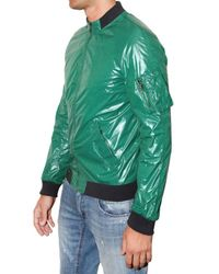 Dolce & Gabbana | Green Shiny Nylon Sport Jacket for Men | Lyst