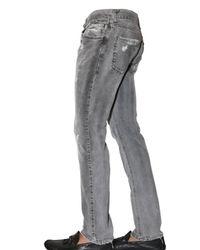 Dolce & Gabbana - Gray 19cm Distressed Denim Gold Fi Jeans for Men - Lyst