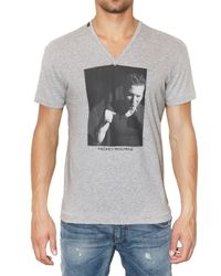 Dolce & Gabbana - Gray Mickey Rourke Printed Jersey T-shirt for Men - Lyst