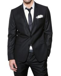 Dolce & Gabbana - Blue Jaspé Wool & Silk Blend Suit for Men - Lyst