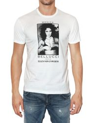 Dolce & Gabbana | White Monica Bellucci Printed Jersey T-shirt for Men | Lyst
