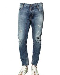 DSquared² | Blue 18cm Biker Fit Ripped Denim Jeans for Men | Lyst