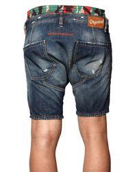 DSquared²   Blue Boxer Waist Denim Pupu Shorts for Men   Lyst
