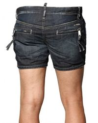 DSquared² - Blue Lightweight Denim Cargo Shorts for Men - Lyst