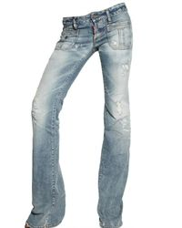 DSquared² | Blue Low Waist Flared Washed Jeans | Lyst