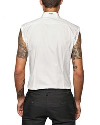 DSquared² - White Cotton Poplin Sleeveless Shirt for Men - Lyst