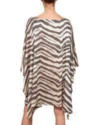 Emilio Pucci | Multicolor Zebra Print Lurex Knit Kaftan Dress | Lyst