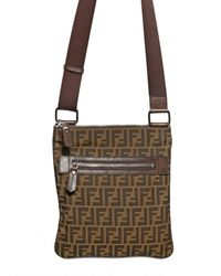 Fendi | Brown Zucca Logo Canvas Flat Bag for Men | Lyst