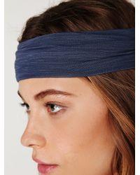 Free People - Blue Space Dye Headwrap - Lyst