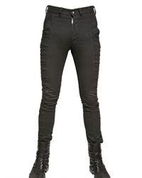 Gareth Pugh - Black Cut Out Profiles Stretch Denim Jeans for Men - Lyst