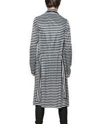 Gareth Pugh | Black Striped Lightweight Nylon Trench Coat for Men | Lyst