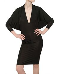 Gareth Pugh | Black Viscose Jersey Dress | Lyst