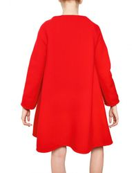 Gianluca Capannolo | Red A-line Zipped Stretch Wool Cloth Coat | Lyst