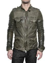 Giorgio Brato | Black Sahariana Nappa Leather Jacket for Men | Lyst