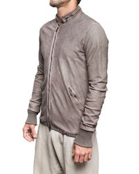 Giorgio Brato - Brown Perforated Washed Nappa Bomber Leather J for Men - Lyst