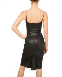 Givenchy | Black Stretch Nappa Leather Dress | Lyst