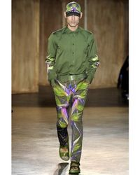 Givenchy - Green Birds Of Paradise Jersey Leggings/ Trous for Men - Lyst