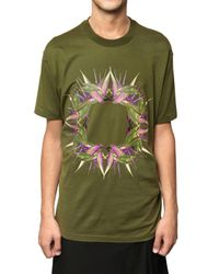 Givenchy - Green Birds Of Paradise Oversized Jersey T-shirt for Men - Lyst