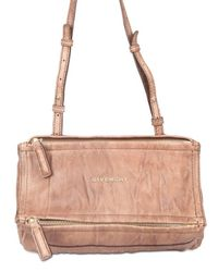 Givenchy | Brown Washed Leather Mini Pandora Shoulder Bag | Lyst