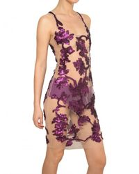 Givenchy - Purple Embroidered Tulle Dress - Lyst