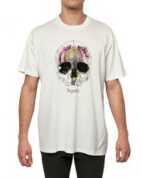 Givenchy | White Skull Print Jersey Oversized T-shirt for Men | Lyst