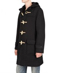 Harnold Brook - Black Boiled Wool Duffle Coat for Men - Lyst
