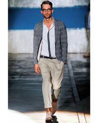 Iceberg - Natural 19cm Stretch Poplin Pence Trousers for Men - Lyst