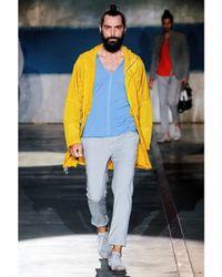 Iceberg | Yellow Nylon Parka Coat for Men | Lyst